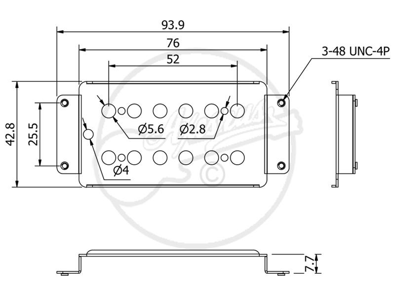 wide range humbucker base plate. Black Bedroom Furniture Sets. Home Design Ideas