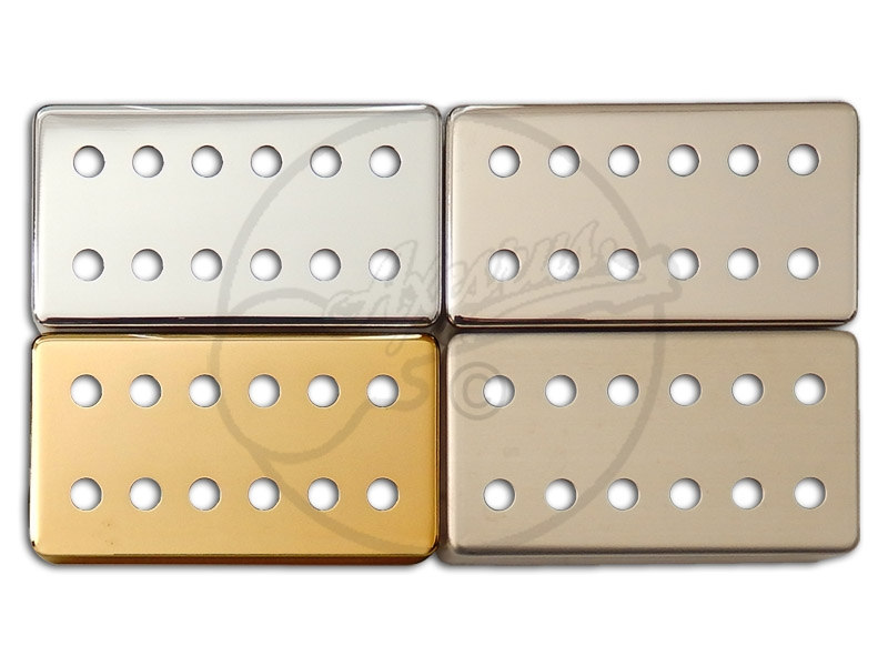 12 hole Humbucker covers in Chrome, Gold, Nickel, Raw for DiMarzio