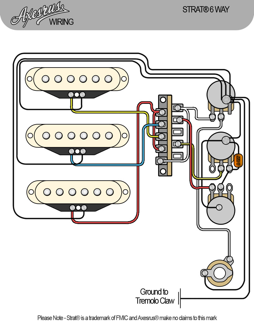 control loom for stratocaster� scscsc (6 way) hsh wiring diagram jaguar xk120 wiring diagram wiring