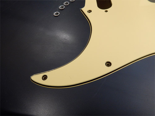 Ivory Pearl back plate for a Strat